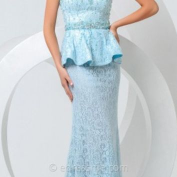 All Lace Peplum Prom Gown by Tony Bowls Paris