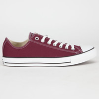 Converse Chuck Taylor All Star Low Mens Shoes Burgundy  In Sizes