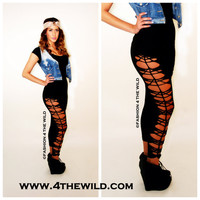 Womens Black Legging and Tights Plus Size and Regular by 4TheWild