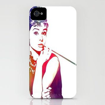Audrey Hepburn Breakfast at Tiffany's iPhone Case by D77 The DigArtisT   Society6