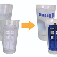 Doctor Who Disappearing TARDIS 2 Pack Pint Glass Set