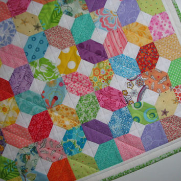 Quilted Table Topper--Springtime Colours, Scrappy