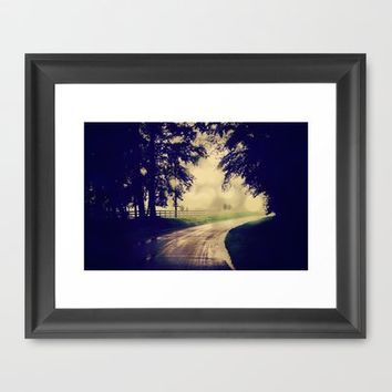 Take the Backroad Framed Art Print by RDelean | Society6