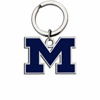 Michigan Wolverines Large Size Stainless Steel Key Ring With Color
