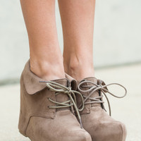 The Edith Bootie, Taupe