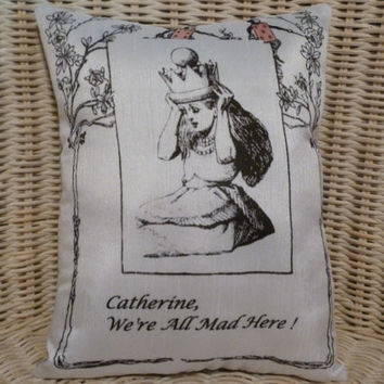 Alice In Wonderland Personalized Pillow w Your Quote etc
