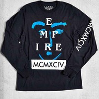 L.A.T.H.C. Empire Long-Sleeve Tee- Black