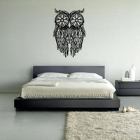 Wall Decal Vinyl Sticker Decals Dream Catcher Dreamcatcher Feathers like Owl  z1661