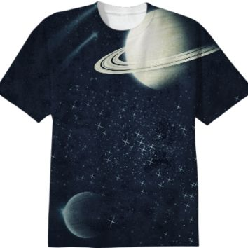Deep Blue space tshirt created by duckyb | Print All Over Me