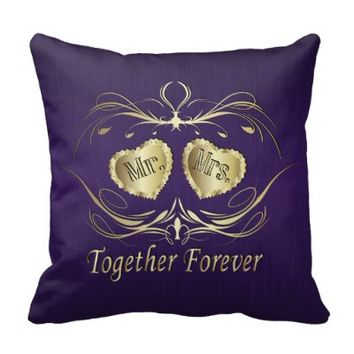 Mr & Mrs Together Forever | Personalize Pillows