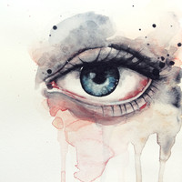 Eye Art Print by Jenny Viljaniemi