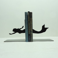 $39.00 Mermaid Bookends FREE USA Shipping by KnobCreekMetalArts on Etsy