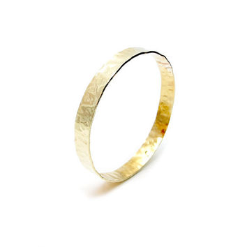 Hammered Gold Bangle - Faux Gold Bangle - Yellow Brass Bangle - Fashion - Hammered Brass Bangle - Textured Brass Bangle - Gold Bracelet