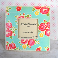 Spring Flowers Picture Frame by Mmim on Etsy