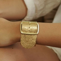 Gatta Cuff 1 1/2 inch Leather Cuff with Buckle and by headinghome