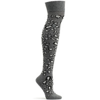 Ozone Snow Leopard Over the Knee Sock