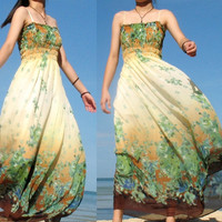 Change Tone Long Dress Floral by myuniverse on Etsy