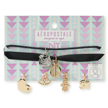 Aeropostale  D.I.Y. Choker Necklace 2-Pack - Black, One
