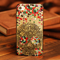New Desing Skull Crystal Phone Case for iphone 5c iphone 5 5 s iphone 4  4s
