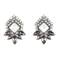 Jeweled Cluster Stud Earrings by Charlotte Russe - Multi