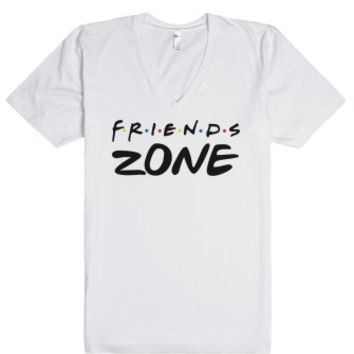 Friends Zone-Unisex White T-Shirt