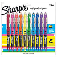 Sharpie Liquid Accent Pen Style Highlighters Assorted Colors Pack Of 10 by Office Depot