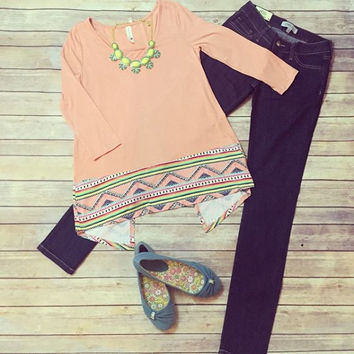 """""""Within Your Peach"""" Top"""