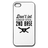 Don't let cancer steal 2nd base iphone case