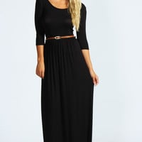 Sophia Scoop Neck Elasticated Waist Maxi Dress