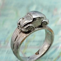 VW BUG RING  Volkwagen Beetle Driving Around Your by BandScapes