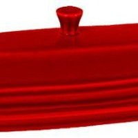 Fiesta 2-Piece Covered Butter Dish, Scarlet