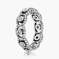 Women's PANDORA 'Her Majesty' Band Ring - Silver/ Clear