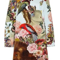 Mary Katrantzou Lobelia Sky Printed A-Line Coat Multi