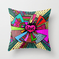 Power of Love...2 Throw Pillow by Lisa Argyropoulos | Society6