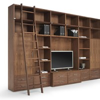 SECTIONAL WOODEN BOOKCASE WALLSTREET | RIVA 1920