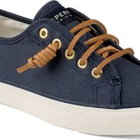 Sperry Top-Sider Seacoast Canvas Sneaker NavyBurnishedCanvas, Size 8M  Women's Shoes