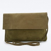 Mum & Co. Suede Cross-body Bag in Khaki - Urban Outfitters