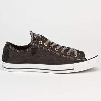 Converse Chuck Taylor All Star Low  Denim Mens Shoes Black  In Sizes