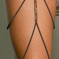 Gold Thigh Leg Chain by allthingswildandfree on Etsy