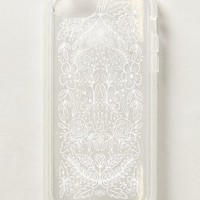 Etched Glass iPhone 5C Case by Anthropologie White One Size Jewelry