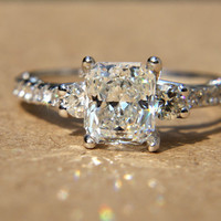 172 carats  RADIANT cut Diamond Engagement Ring  by BeautifulPetra