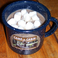 Candle Hot Cocoa Marshmallows 9 oz Camp Cabin Hand Poured Soy Candles, House Warming Gift, Bakery Candle Natural Cozy Rustic Lighting Winter