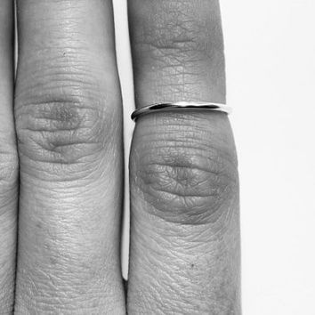 Midi Ring - Wire Ring - Above the Knuckle Ring - Stacking Rings - Mid Ring - Silver Band Ring - Dainty Ring - Adjustable