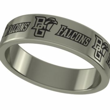 Bowling Green Falcons Stainless Steel Rings and Jewelry. College Jewelry
