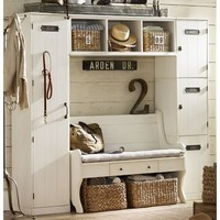 Modular Family Locker Entryway System with Bench