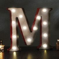 Apothecary ''M'' LED Marquee Sign Decor