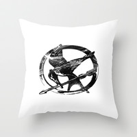 HUNGER GAMES PIN Throw Pillow by Arda | Society6