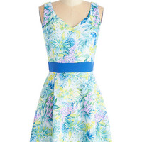 ModCloth Mid-length Sleeveless A-line Take it from the Tropical Dress