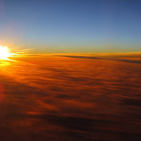 Picture of a Sunrise from a Plane 8x10 Affordable Fine by Briole