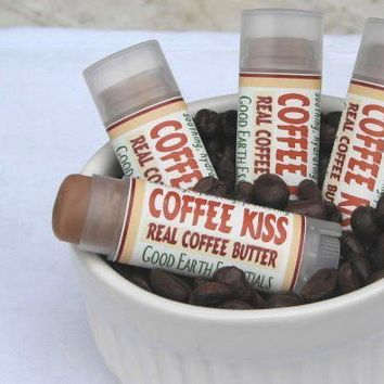 COFFEE KISS, smooth coffeelicious lip butter, pure coffee butter treats your lips with it's velvety smoothness